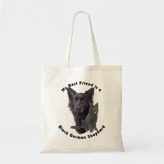 Best Friend Black German Shepherd Canvas Bags