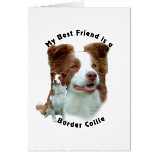 Best Friend Border Collie Brown Greeting Card