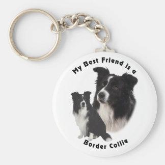 Best Friend Border Collie Key Ring