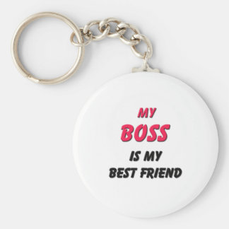 Best Friend Boss Basic Round Button Key Ring