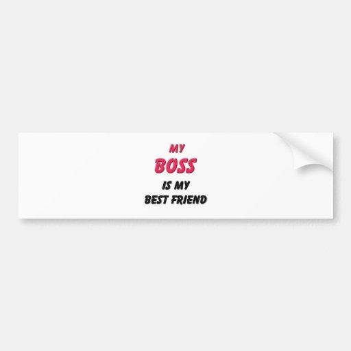 Best Friend Boss Bumper Sticker