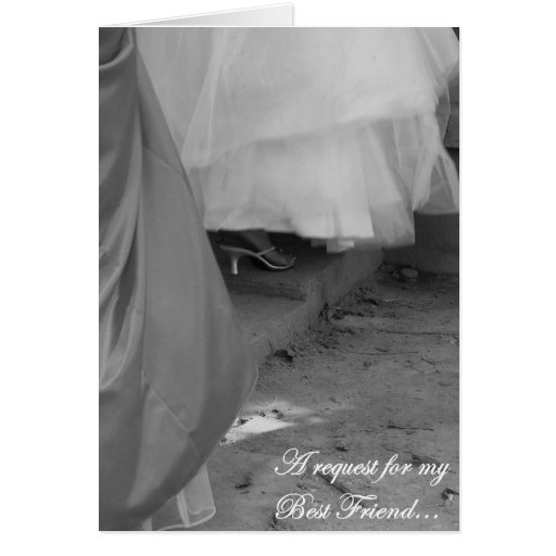 Best Friend Bridesmaid Request Card, Elegant