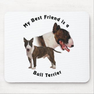 Best Friend Bull Terrier Mouse Pad