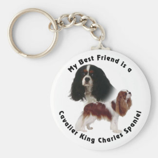 Best Friend Cavalier King Charles Key Ring