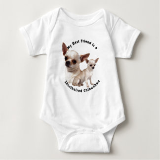 Best Friend Chihuahua Shorthaired Baby Bodysuit