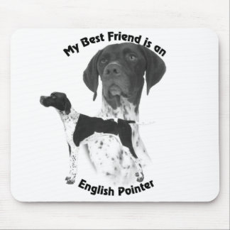 Best Friend English Pointer BW Mouse Mat
