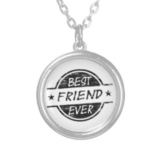 Best Friend Ever Black Custom Necklace