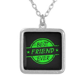 Best Friend Ever Green Necklace