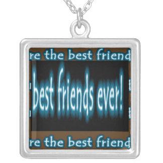 BEST Friend Ever Square Pendant Necklace