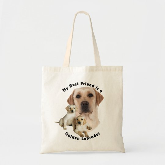 Best Friend Golden labrador Tote Bag