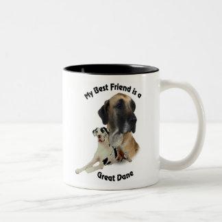 Best Friend Great Dane Coffee Mugs