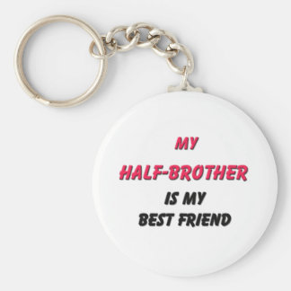 Best Friend Half-Brother Basic Round Button Key Ring