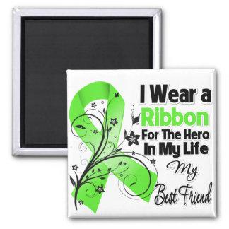 Best Friend Hero in My Life Lymphoma Ribbon Fridge Magnets