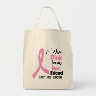 Best Friend - I Wear Pink - Breast Cancer Bags