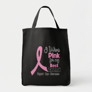 Best Friend - I Wear Pink - Breast Cancer Canvas Bags
