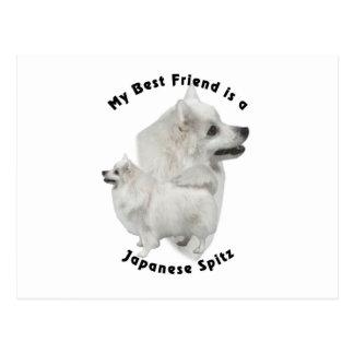 Best Friend Japanese Spitz Postcard