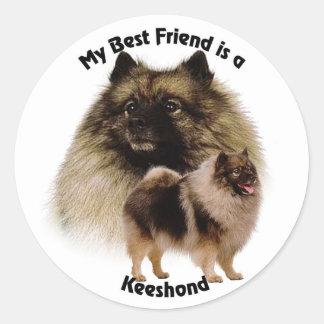 Best Friend Keeshond Classic Round Sticker