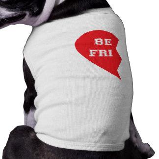 Best Friend Matching Dogs Sleeveless Dog Shirt