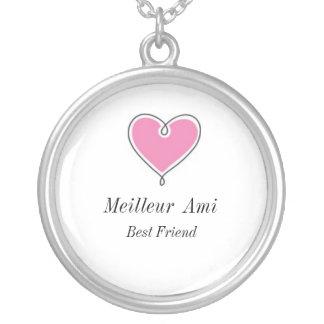 Best Friend : Meilleur  Ami Heart Necklace