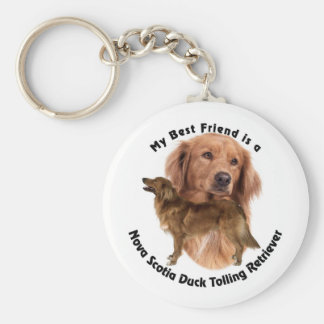 Best Friend Nova Scotia Duck Basic Round Button Key Ring