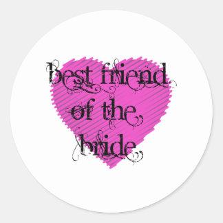 Best Friend of the Bride Round Sticker