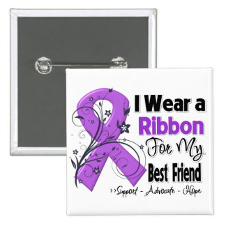 Best Friend - Pancreatic Cancer Ribbon Pins