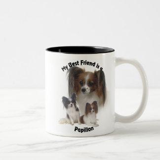 Best Friend Papillon Two-Tone Coffee Mug