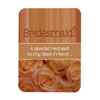 Best Friend Please be Bridesmaid Rectangular Photo Magnet