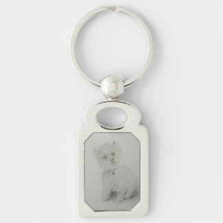 Best Friend Silver-Colored Rectangle Key Ring