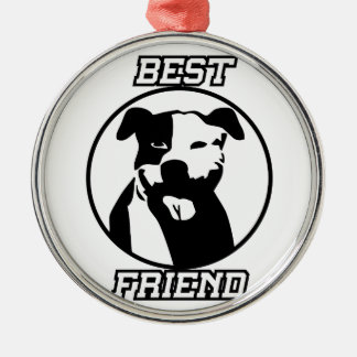 Best friend Silver-Colored round decoration