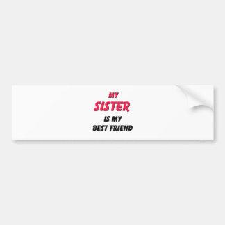 Best Friend Sister Bumper Sticker