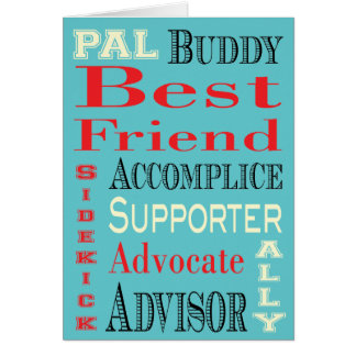 Best Friend Subway Art Greeting Card