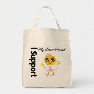 Best Friend Support Breast Cancer Tote Bags