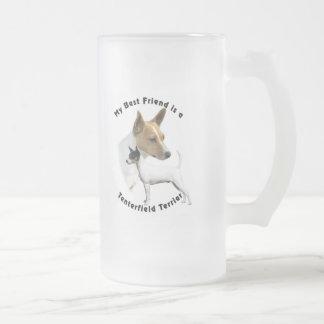 Best Friend Tenterfield Terrier Frosted Glass Mug