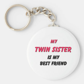 Best Friend Twin Sister Key Chains