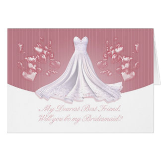 Best Friend - Will You Be My Bridesmaid Greeting C Greeting Card