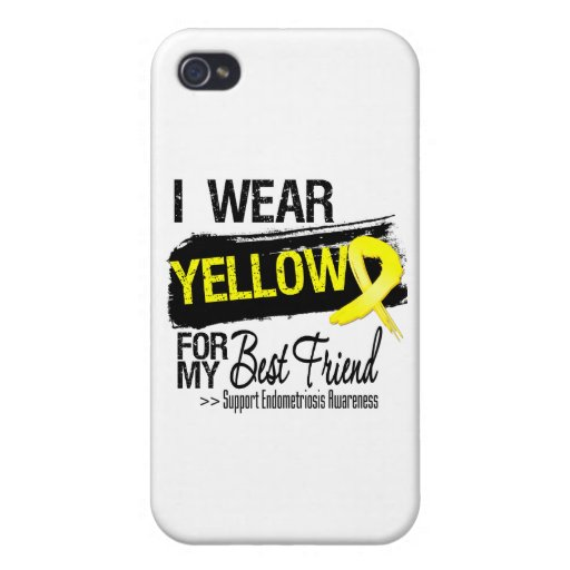 Best Friend Yellow Ribbon Endometriosis Covers For iPhone 4