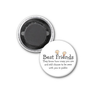 Best Friends 3 Cm Round Magnet