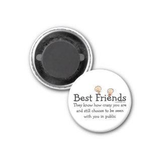Best Friends 3 Cm Round Magnet