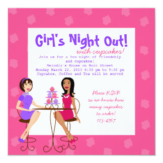 Best Friends and Cupcakes! 13 Cm X 13 Cm Square Invitation Card