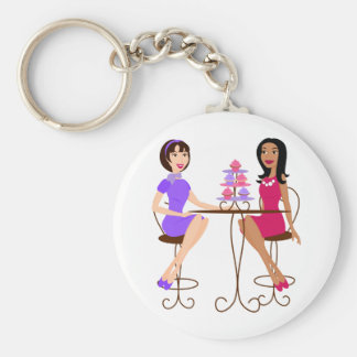 Best Friends and Cupcakes! Basic Round Button Key Ring