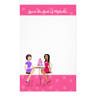 Best Friends and Cupcakes! Custom Stationery