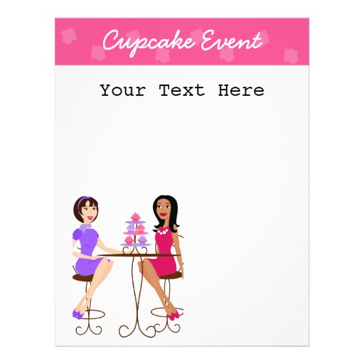 Best Friends and Cupcakes! Personalized Flyer