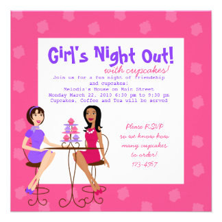 Best Friends and Cupcakes Personalized Invitation