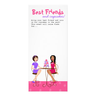 Best Friends and Cupcakes Rack Cards