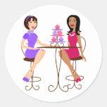 Best Friends and Cupcakes! Round Sticker