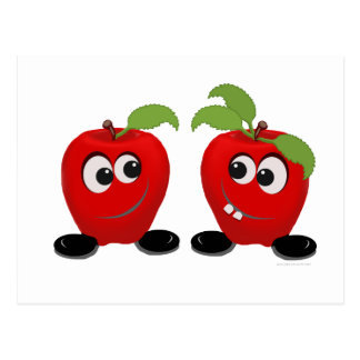 Best Friends Apples Postcard