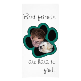Best friends are hard to find photo card template
