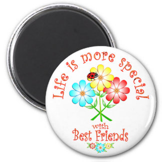 Best Friends are Special 6 Cm Round Magnet
