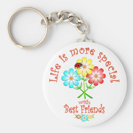 Best Friends are Special Basic Round Button Key Ring
